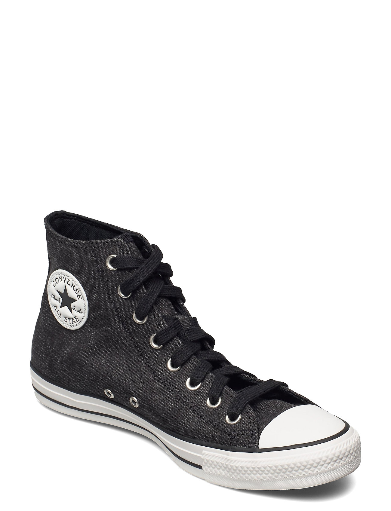 Image of Ctas Hi Black/Black/Egret High-top Sneakers Sort Converse (3503505247)