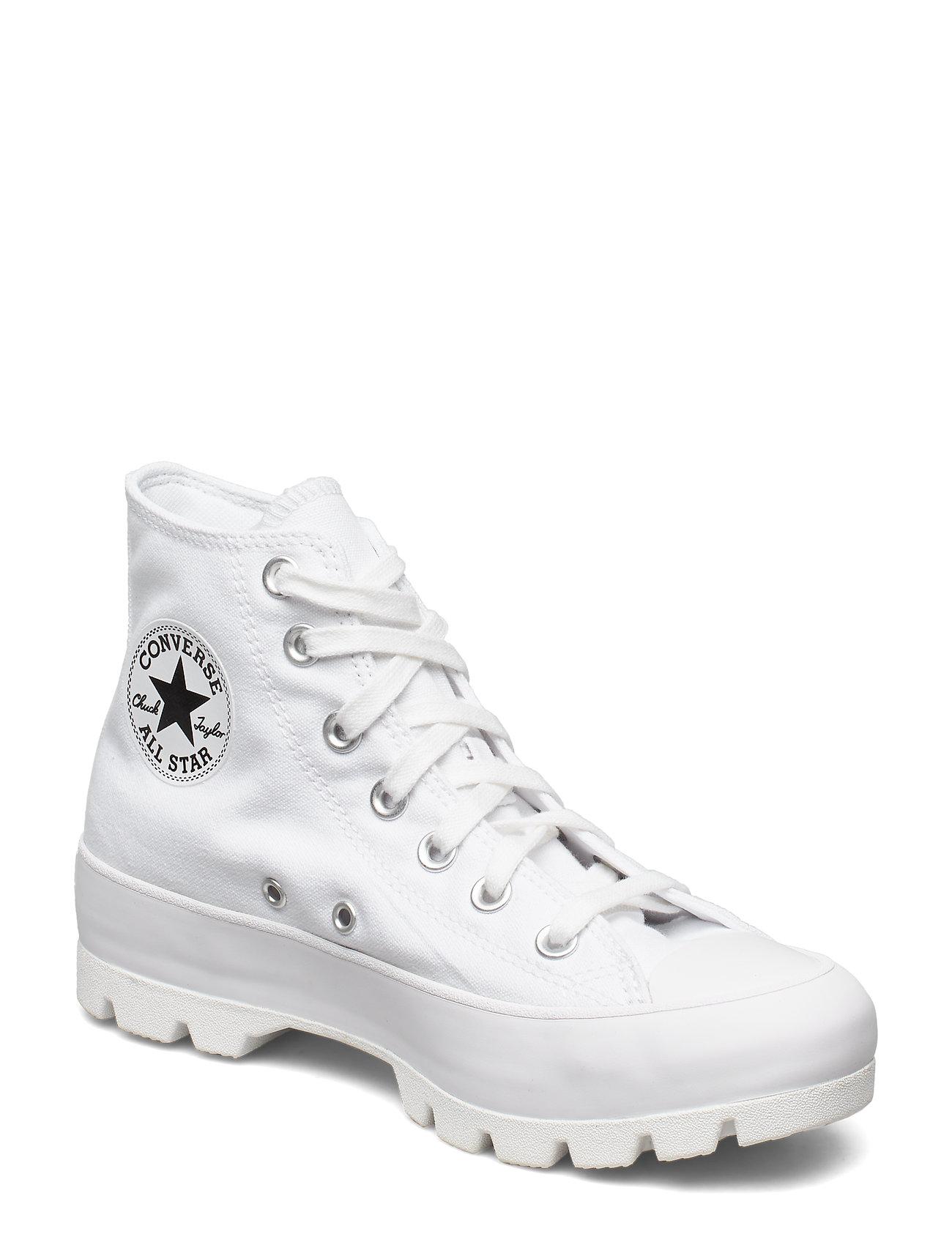 Image of Ctas Lugged Hi White/Black/White High-top Sneakers Hvid Converse (3344407463)