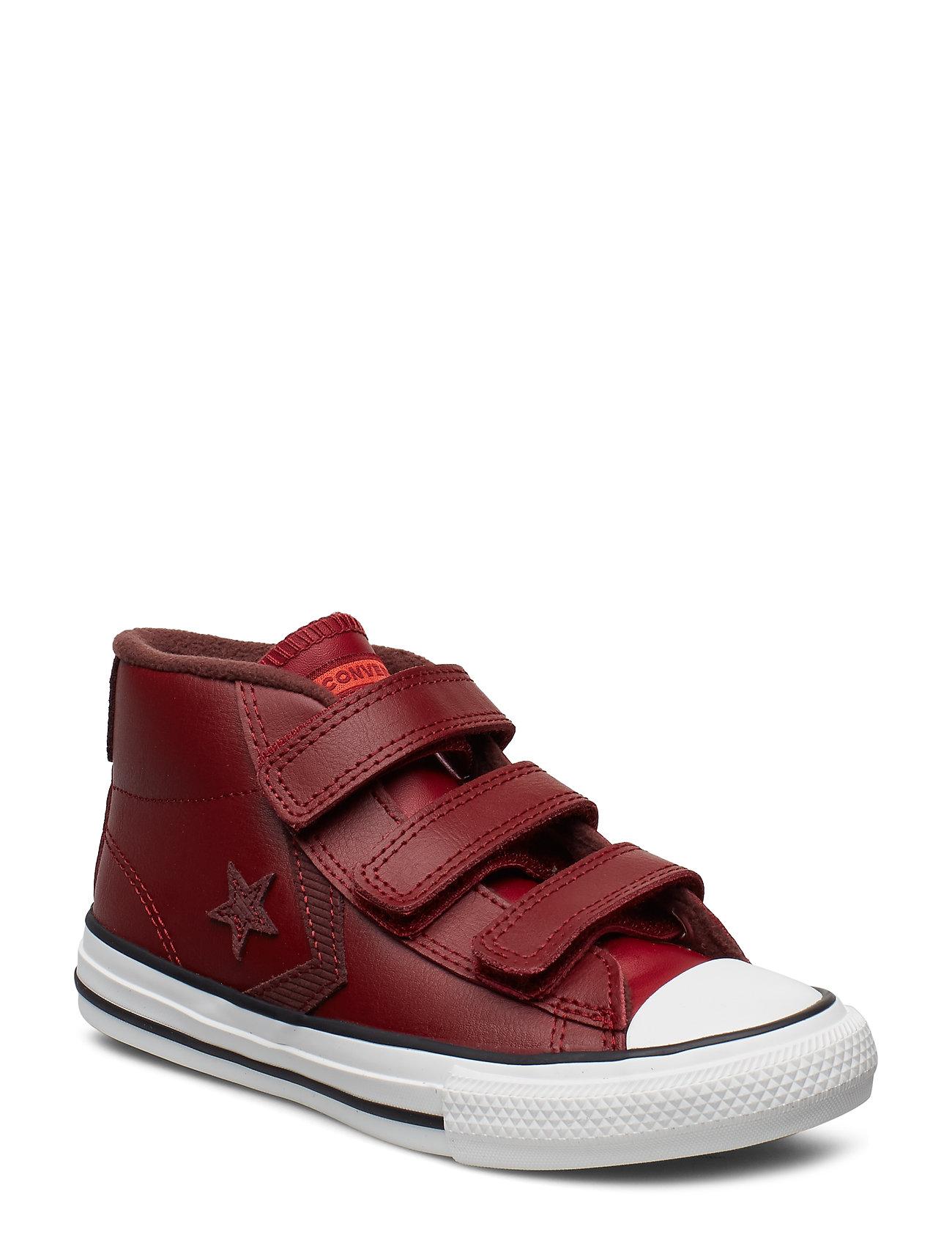 Converse STAR PLAYER 3V MID - BACK ALLEY BRICK/EL DORADO/HABANERO RED
