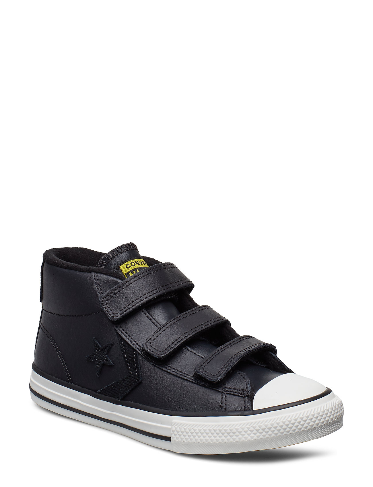 Converse STAR PLAYER 3V MID - ALMOST BLACK/BLACK/VIVID SULFUR