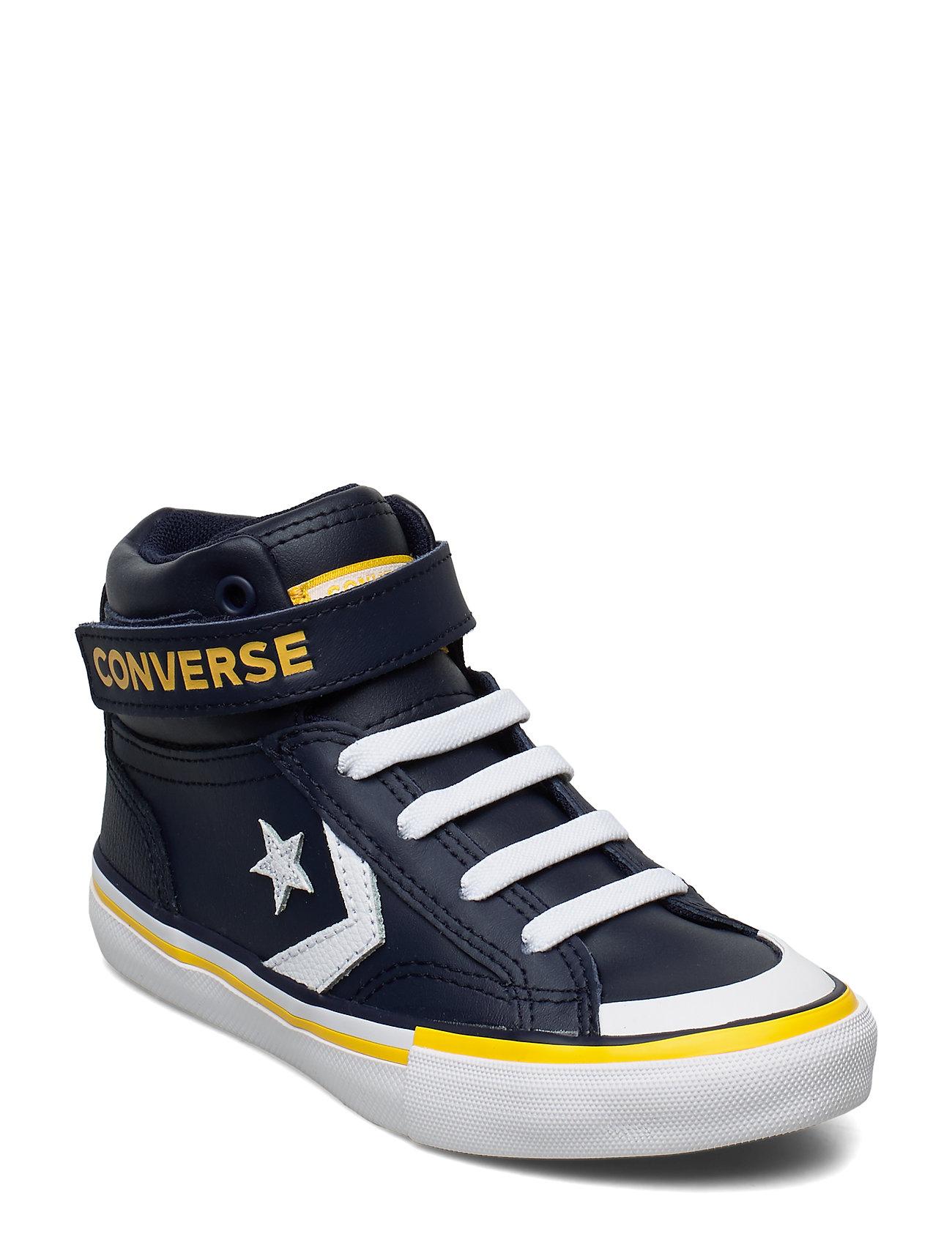 Converse PRO BLAZE STRAP HI OBSIDIAN/AMARILLO - OBSIDIAN/AMARILLO/WHITE