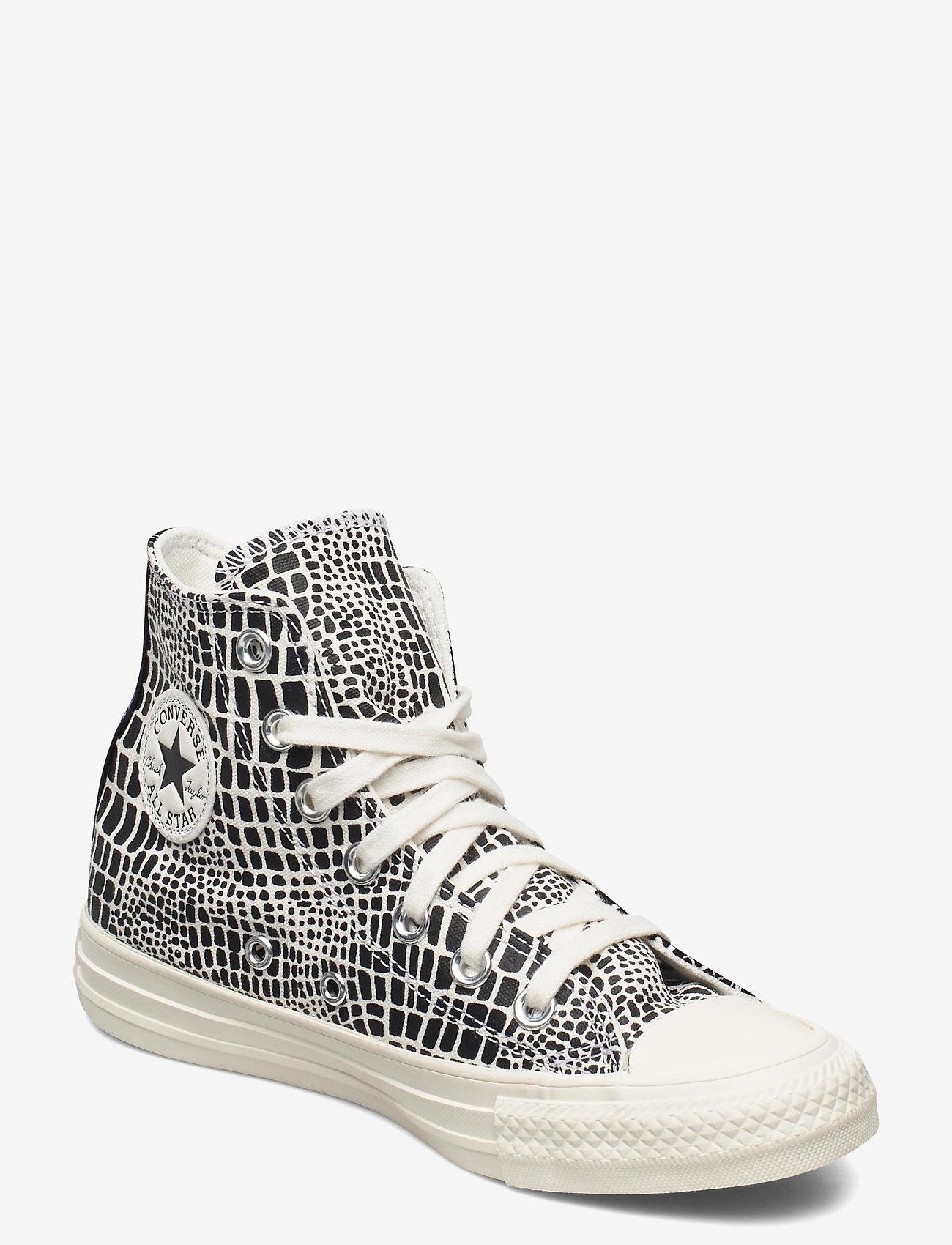 Converse - CTAS HI EGRET/BLACK/EGRET - hoge sneakers - egret/black/egret - 0