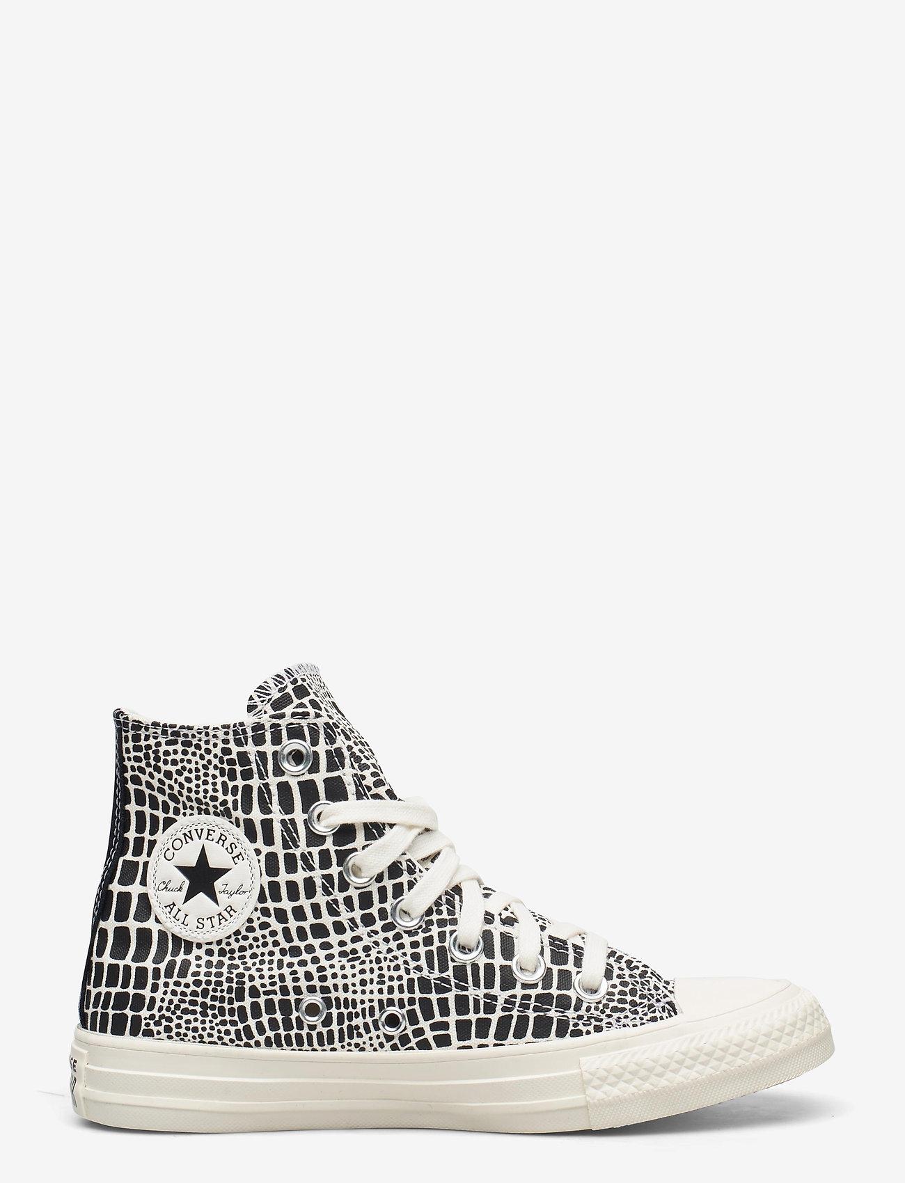 Converse - CTAS HI EGRET/BLACK/EGRET - hoge sneakers - egret/black/egret - 1