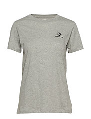 Converse Star Chevron Small Chest Logo Tee - GREY