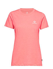Converse Star Chevron Small Chest Logo Tee - RACER PINK