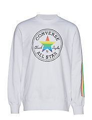 PRIDE CREW FLEECE - WHITE