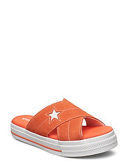 ONE STAR SANDAL SLIP - ORANGE/EGRET