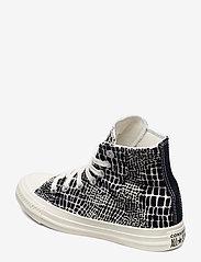 Converse - CTAS HI EGRET/BLACK/EGRET - hoge sneakers - egret/black/egret - 2