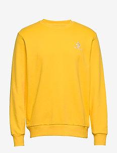 STAR CHEVRON EMB CREW FT BLACK - basic sweatshirts - amarillo