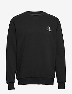 STAR CHEVRON EMB CREW FT BLACK - basic sweatshirts - black