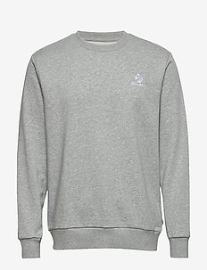 STAR CHEVRON EMB CREW FT BLACK - basic sweatshirts - vintage grey heather