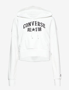 Converse All Star Pullover Hoodie - crop tops - white
