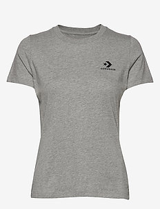STACKED LOGO L CHEST TEE - GREY