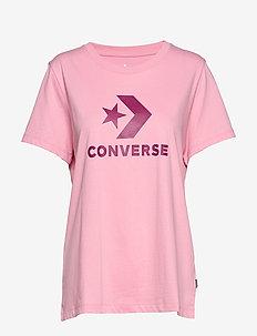 CONVERSE STAR CHEVRON TEE - COASTAL PINK