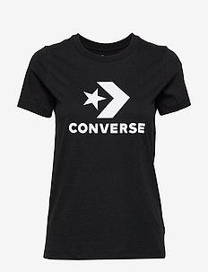 CONVERSE STAR CHEVRON TEE - CONVERSE BLACK