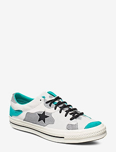 ONE STAR - low tops - vintage white/turbo green