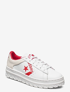 PRO LEATHER X2 - lav ankel - white/red