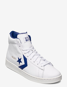 PRO LEATHER HI WHITE/RUSH BLUE/WHITE - hoog sneakers - white/rush blue/white