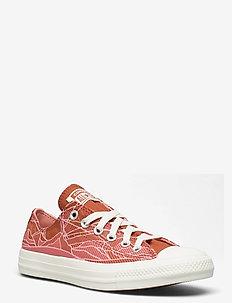 CTAS OX RED BARK/EGRET/EGRET - lave sneakers - red bark/egret/egret