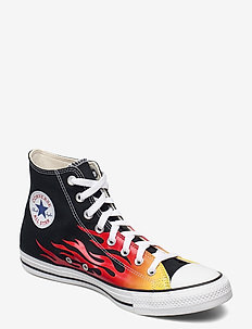 CTAS HI BLACK/ENAMEL RED/FRESH YELLOW - hoog sneakers - bllack/enamel red/fresh yellow