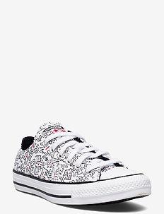CTAS OX WHITE/BLACK/RED - låga sneakers - white/black/red