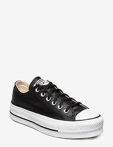 CTAS LIFT CLEAN OX - lave sneakers - black/black/white