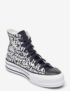 CTAS DOUBLE STACK LIFT HI BLACK/EGRET - high top sneakers - black/egret