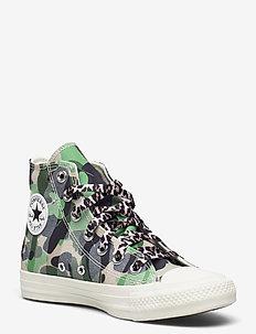 CTAS HI EGRET/PIQUANT GREEN/DRIFTWOOD - høje sneakers - egret/piquant green/driftwood