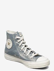 CTAS HI WASHED DENIM/EGRET/LIGHT GOLD - hoge sneakers - washed denim/egret/light gold