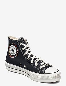CTAS LIFT HI BLACK/VINTAGE WHITE/MULTI - sneakers - black/vintage white/multi