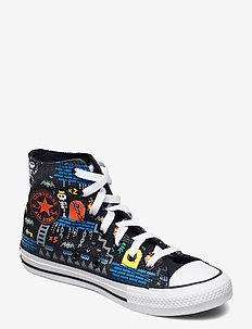 CTAS HI BLACK/BRIGHT POPPY/DIGITAL BLUE - høje sneakers - black/bright poppy/digital blue