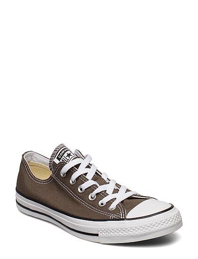 All Star Canvas Ox Niedrige Sneaker Grau CONVERSE