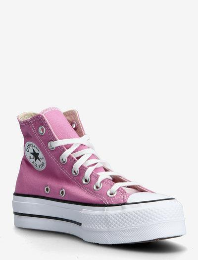 CTAS LIFT HI MAGIC FLAMINGO/BLACK/WHITE - korkeavartiset tennarit - pink