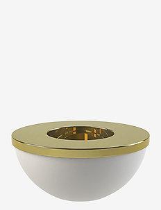 Light Bowl 8cm - lyslykter - white / brass