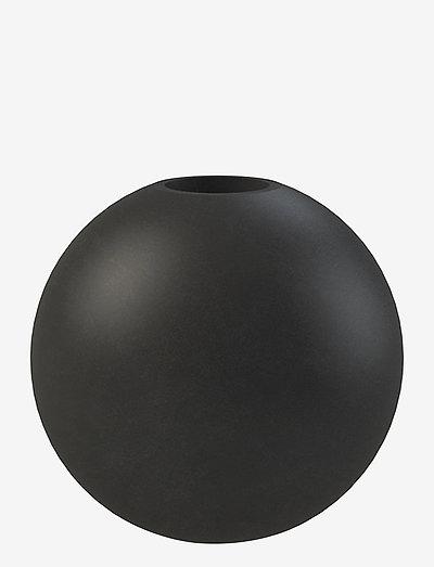 Candlestick Ball 8cm - kynttilänjalat - black