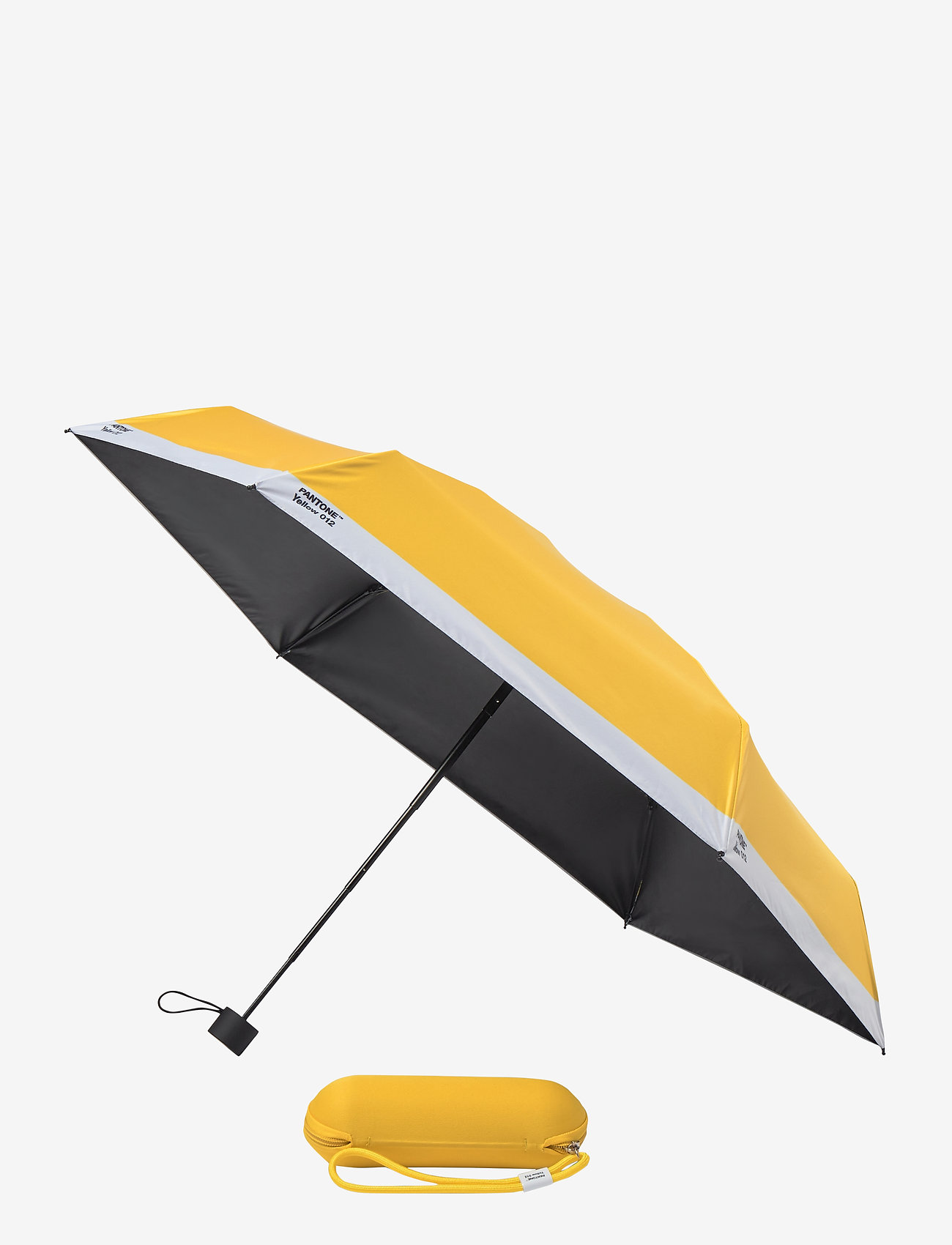 PANTONE - UMBRELLA FOLDING IN CARRY CASE - paraplyer - yellow 012 c - 0