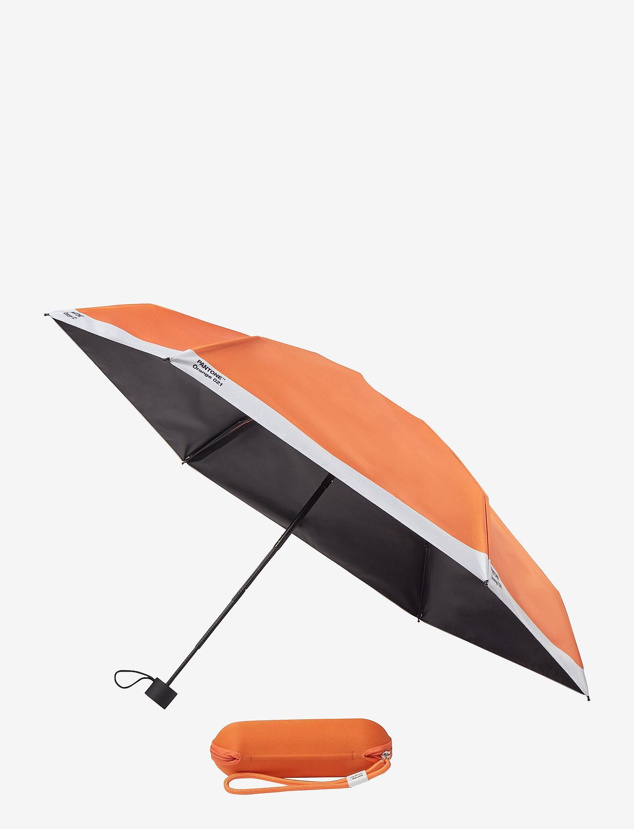 PANTONE - UMBRELLA FOLDING IN CARRY CASE - paraplyer - orange 021 c - 0