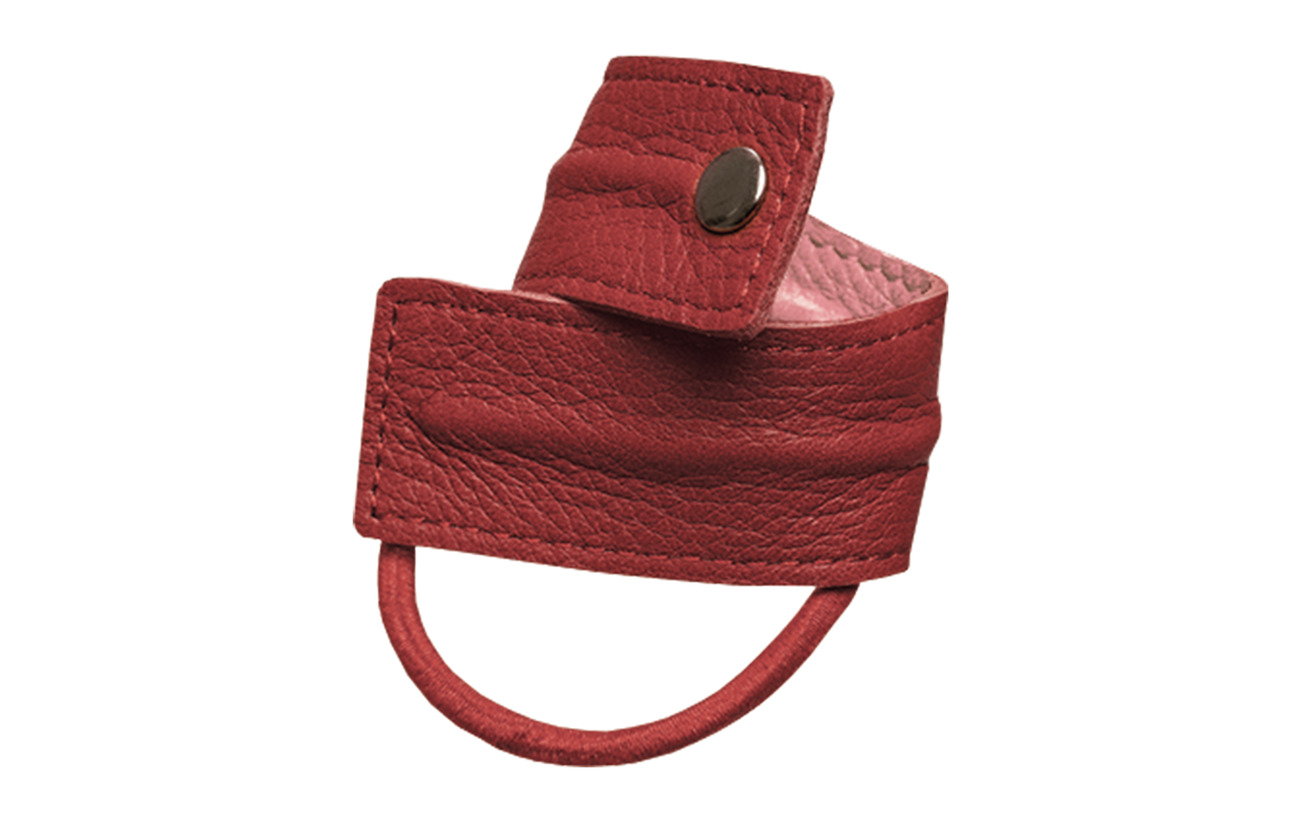 Corinne Leather Band  Short Bendable - RED/PINK
