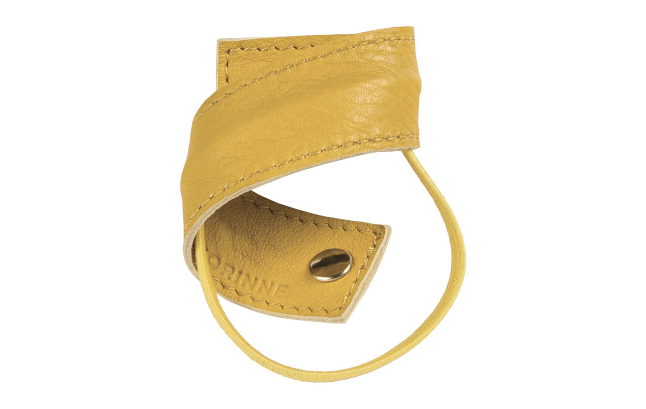 Corinne Leather Band  Short Bendable - YELLOW