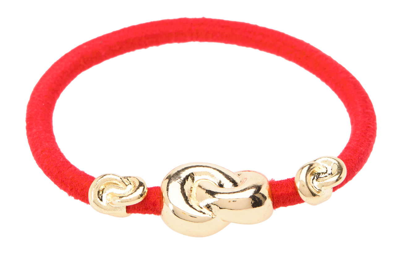 Corinne Hair Tie Three Knots - STRAWBERRY RED