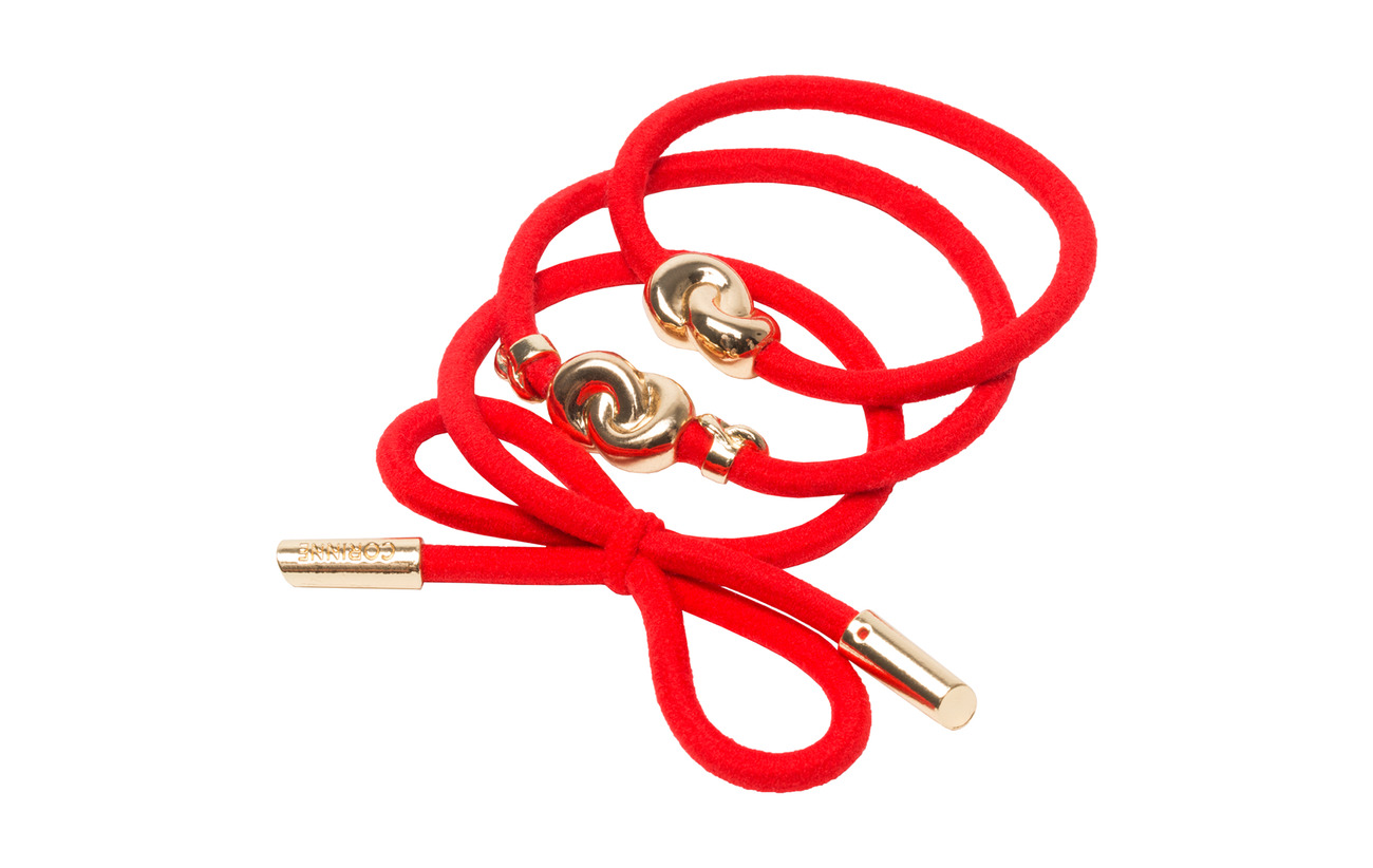 Corinne Hairtie metal details (3 pcs)Strawberry Red - STRAWBERRY RED