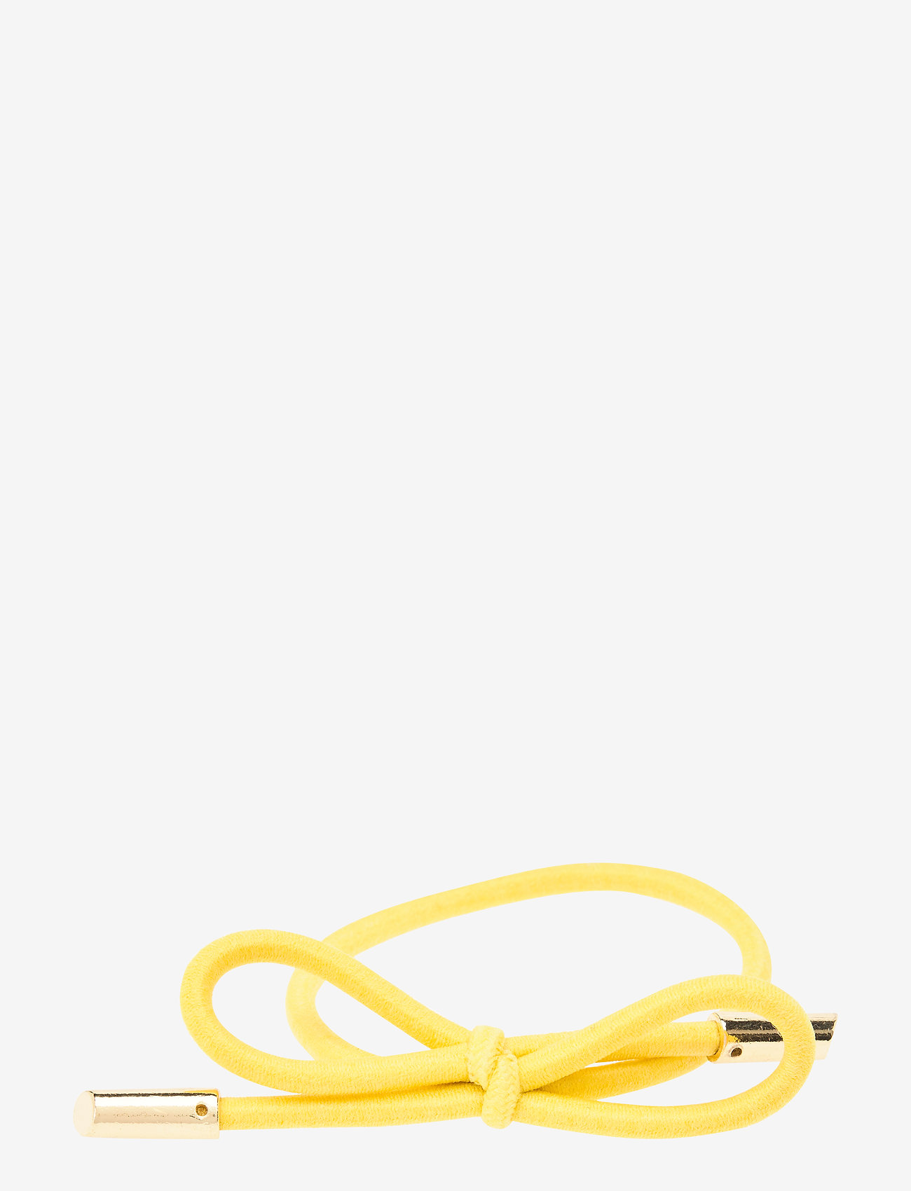 Corinne - Hair Tie Bow Plain - hårsnoddar - yellow - 0