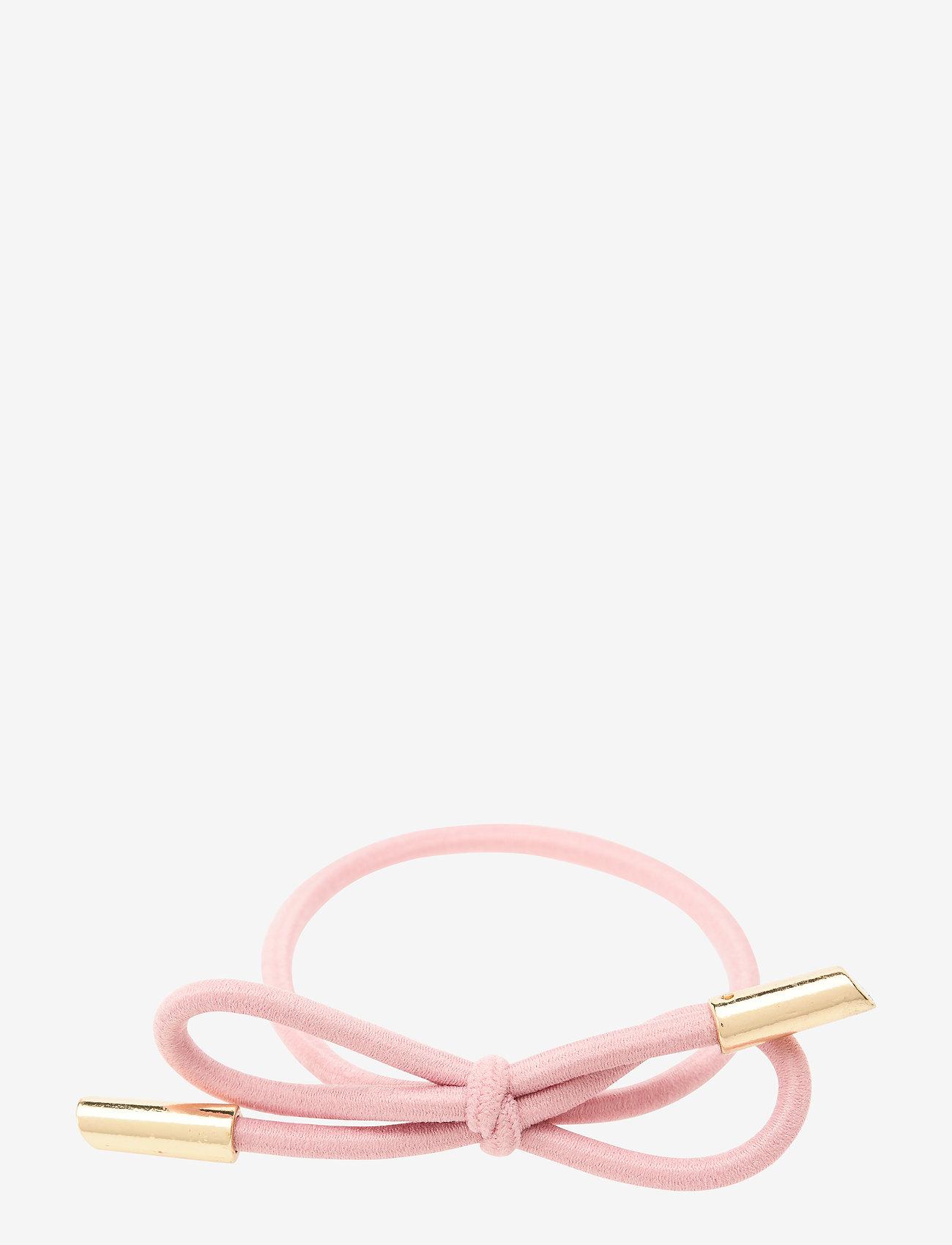 Corinne - Hair Tie Bow Plain - hårsnoddar - pink - 0