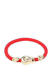 Hair Tie Three Knots - STRAWBERRY RED