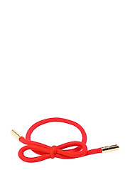 Hair Tie Bow Plain - STRAWBERRY RED