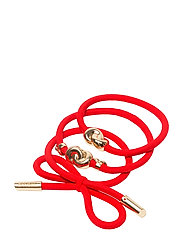 Hairtie metal details (3 pcs)Strawberry Red - STRAWBERRY RED