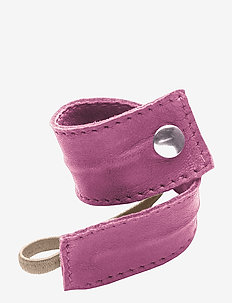Leather Band Short Bendable - hår accessories - fushia