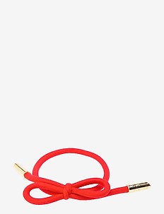Hair Tie Bow Plain - beauty giveaways - strawberry red