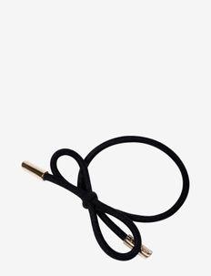 Hair Tie Bow Plain - BLACK