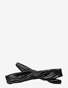 Leather Hairband Wire - hårband - black
